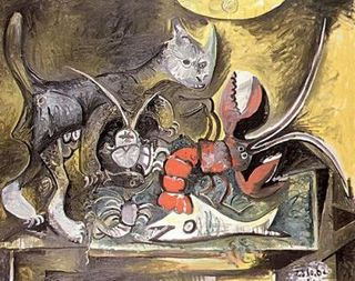 Picasso - Nature morte Chat et homard, 1962