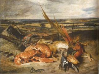 Delacroix - Nature morte aux homards, 1827