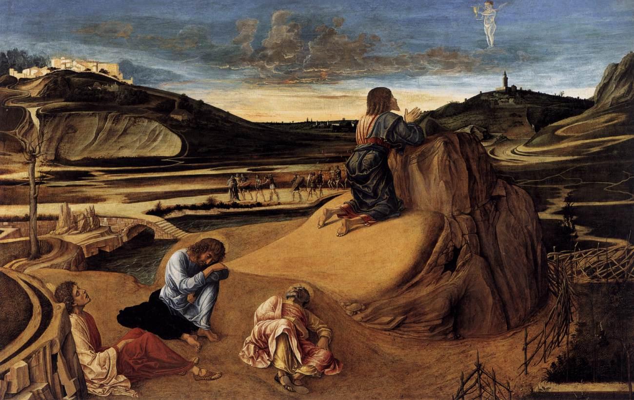 Bellini - Agonie dans Le jardin des oliviers, vers 1465