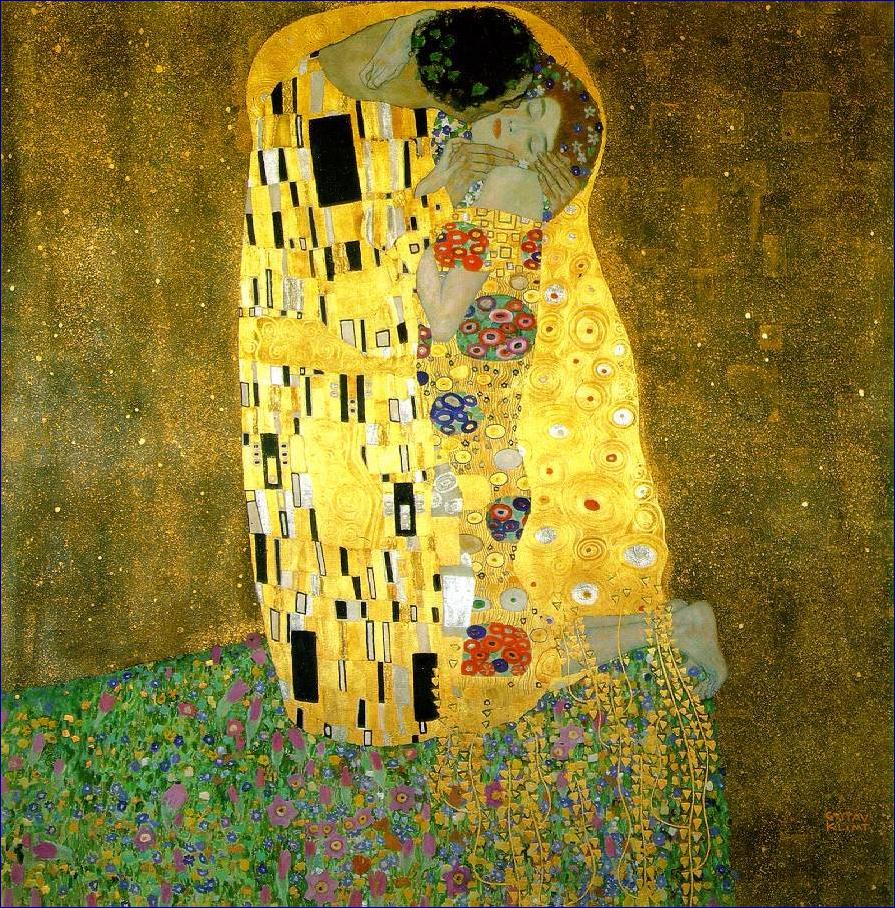 Klimt - Le baiser, 1907-1908