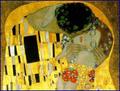 Klimt - Le baiser, détail 1