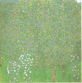 Klimt - Rosiers sous les arbres, vers 1905
