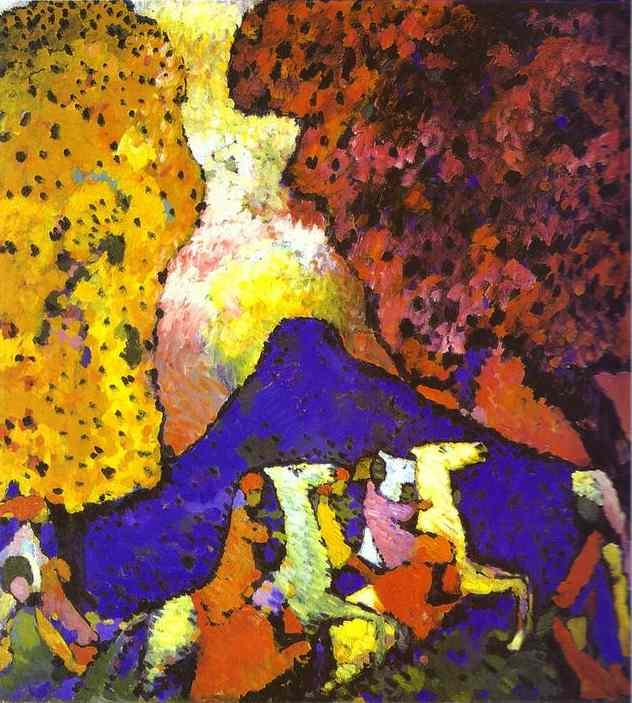 Kandisky - La montagne bleue, 1908-1909