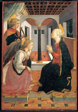 Annonciation avec saint Julien - Filippo Lippi et Fra Diamante, vers 1460