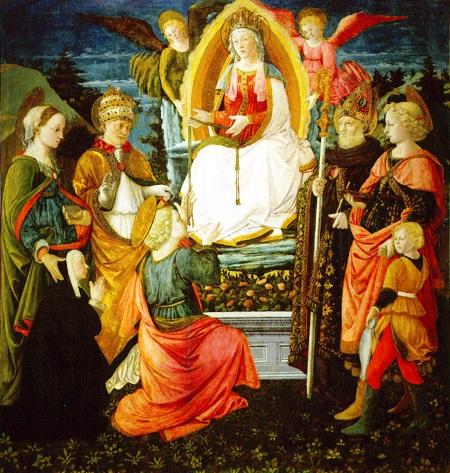 Filippo Lippi et Fra Diamante - Vierge à la ceinture, vers 1456-1460