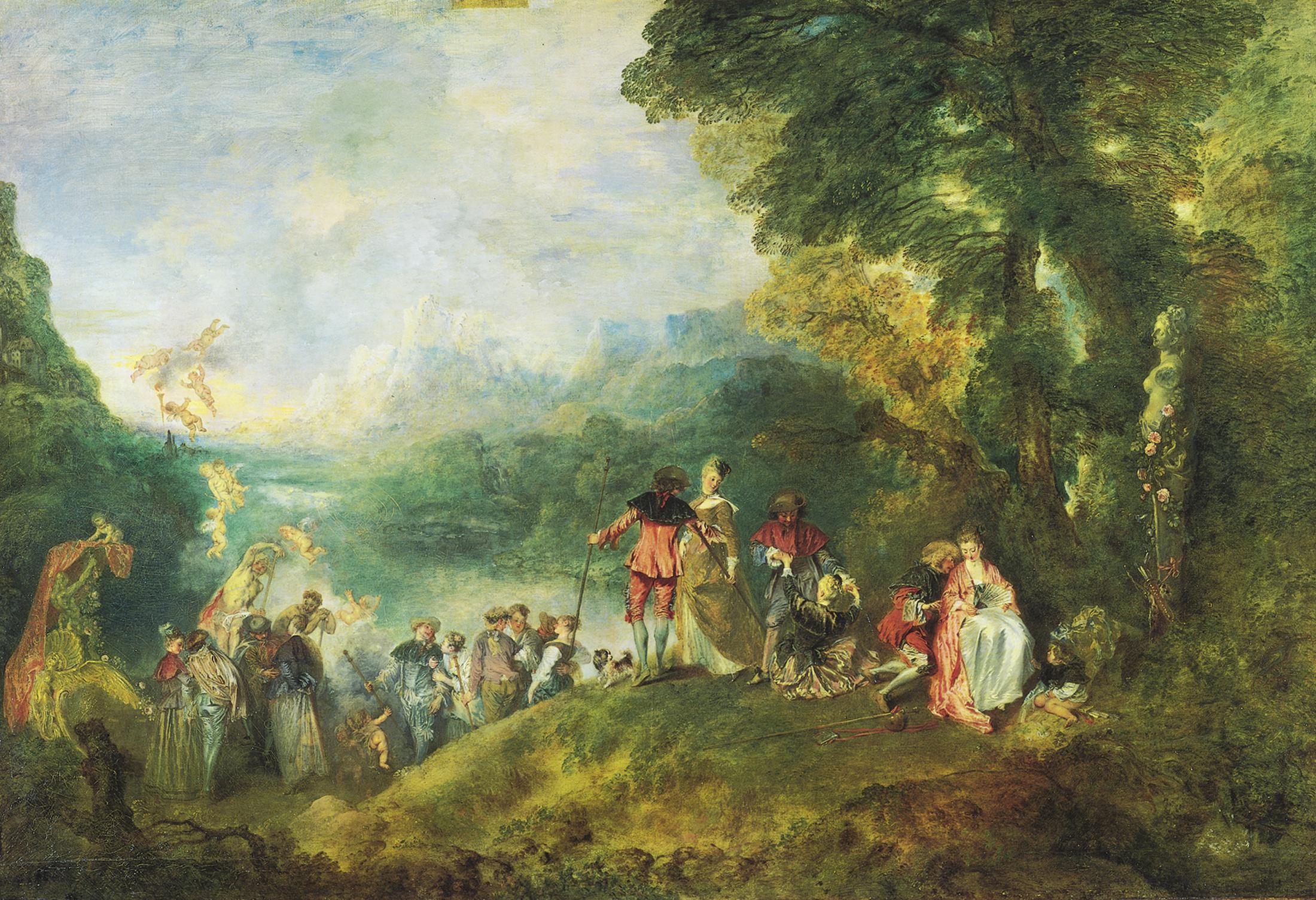Watteau - L'embarquement pour Cythère, 1717
