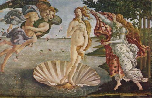 Botticelli - La naissance de Vénus, vers 1485
