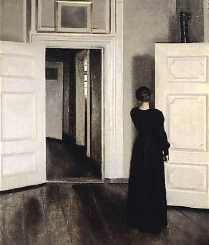 Hammershoi - Intérieur avec femme debout, 1905
