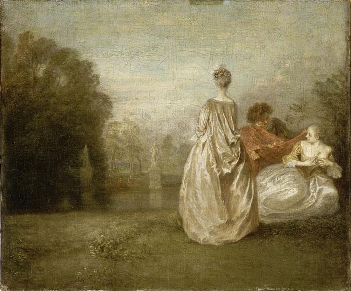 Watteau - Les deux cousines, 1716