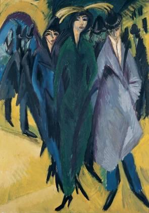 Kirchner - Femmes dans la rue, 1914