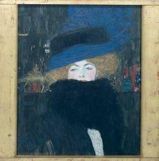 Klimt - Femme au chapeau et boa de plumes, vers 1910