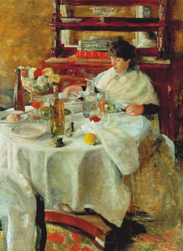 Ensor - La mangeuse d'huîtres, 1882