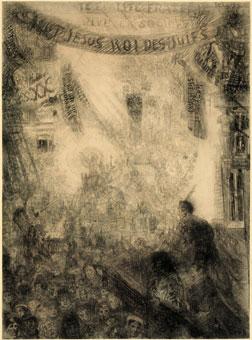 Ensor - La vive et Rayonnante, L'entrée du Christ à Jérusalem, 1885