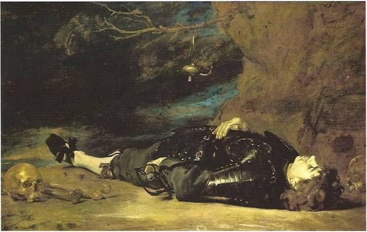 Peinture italienne - Soldat mort, vers 1630