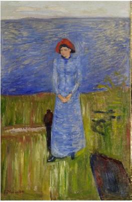 Munch - Femme au chapeau rouge sur le Fjord, 1891
