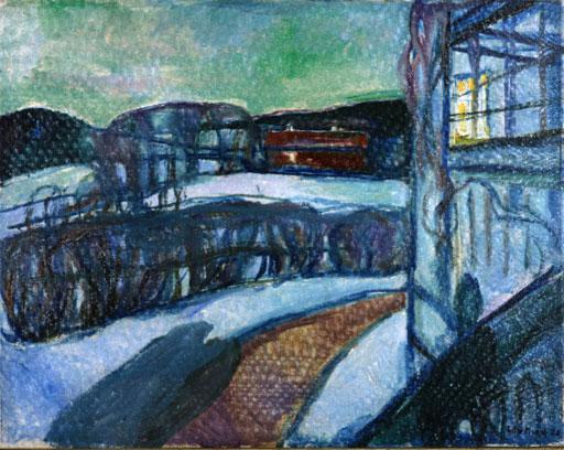 Munch - Nuit d'hiver, 1923
