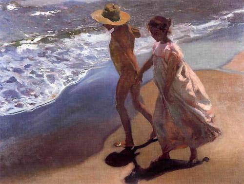 Sorolla - Al agua (A l'eau), 1908