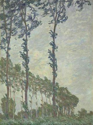 Monet - Effet de vent, série des peupliers, 1891