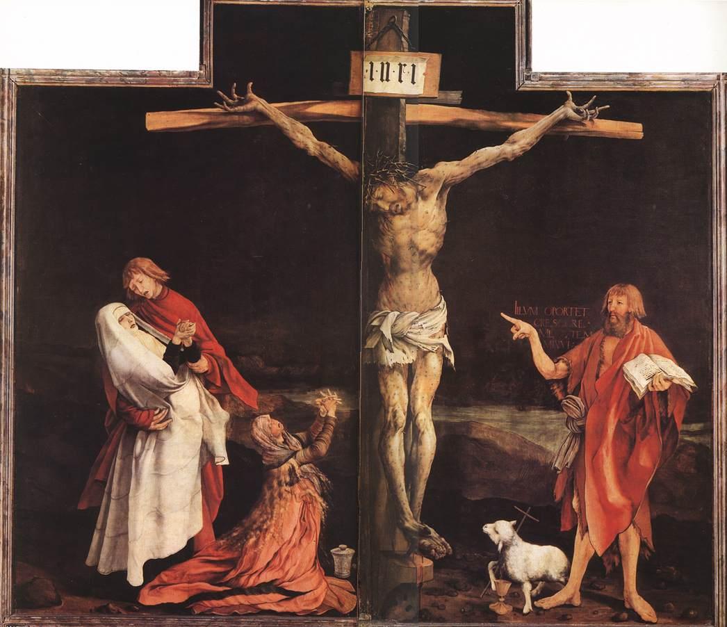 Grünewald - Retable d'Issenheim, crucifixion