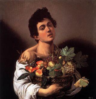 Caravaggio - Le garçon à la corbeille de fruits, 1593-1594