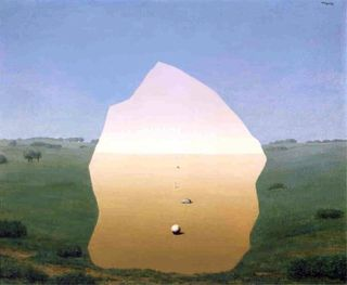 Magritte - The Kiss Le Baiser, 1938
