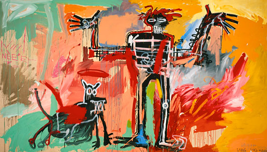 Basquiat - Boy and Dog in a Johnnypump, 1982