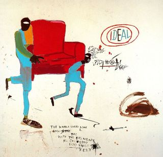 Basquiat - light blue movers, 1987
