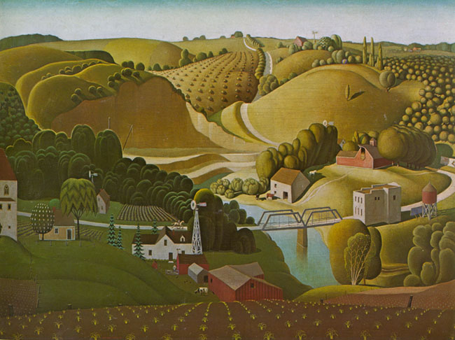 Grant Wood - Stone City Iowa, 1930