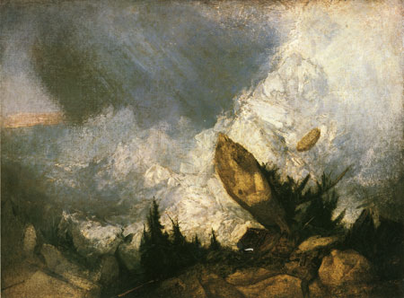 Turner - Avalanche dans les Grisons, 1810