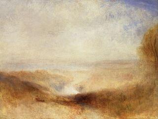 Turner - Paysage avec une rivière et une baie au loin, vers 1845