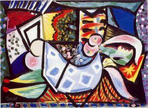 Femme étendue sur un canapé Picasso
