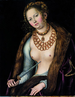 Cranach l'Ancien Lucrece 1