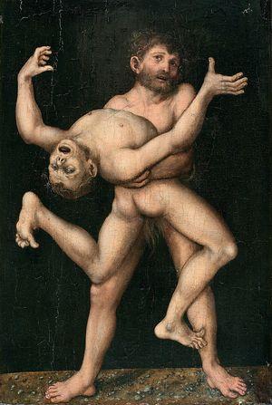 Cranach Hercule et Antée